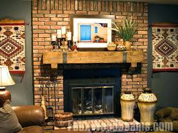 wood mantel decorating ideas for fireplace brick awesome mantels34 mantels