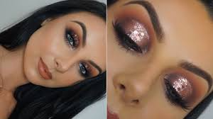 festival makeup tutorial bronze glitter eyes serena cleary