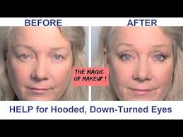 hooded downturned eyes lifted reved makeup tips video for women beauty over