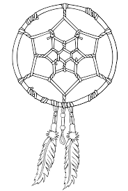 Native Dream Catchers Drawings Native American Dreamcatcher Coloring Page Get Coloring Pages 73