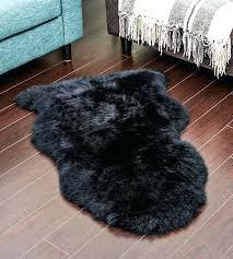 black sheepskin rug john costco grey