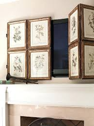 put cable box hang tv over fireplace where to tv
