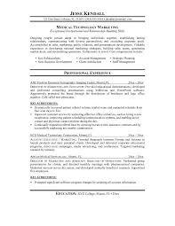 Sample Resume Medical