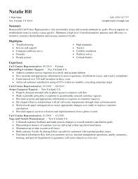 Call Center Resume Skills Enchanting Example Of Resume In Call Center Plus Call Center Resume Skills