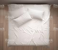 Minimalistisches Schlafzimmer Draufsicht Closeup Auf Doppelten