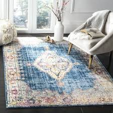 safavieh blue and ivory rug bohemian blue ivory polyester area rug safavieh cambridge light blue ivory
