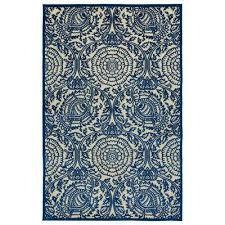 five seasons navy 9 ft x 12 ft indoor outdoor area rug navy green blue red