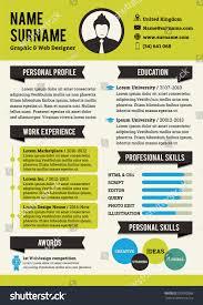 Green Personal Curriculum Vitae Template Simplicity Stock Vector