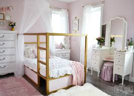 A Pink, White & Gold Shabby Chic Glam Girls' Bedroom Reveal (Little ...