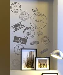 wall most interesting travel wall decor stamp vinyl decals for my room would look great on