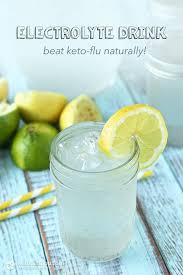 beat keto flu with homemade electrolyte drink