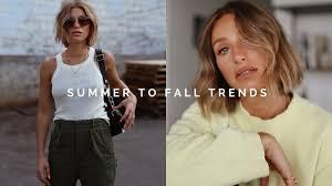 5 <b>SUMMER</b> TO <b>FALL FASHION</b> TRENDS 2019 | <b>CLOTHING</b> HAUL ...