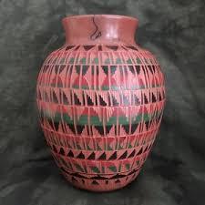 Navajo pottery designs African Painted Thumbnailaspfileu003dassetsimagesgeometric Pottery 0318jpgmaxxu003d300maxyu003d0 Blue Thunder Fine Indian Art Red Clay Pottery With Geometric Designs