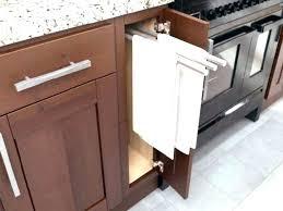 kitchen dish towel holder towels summer home tour rack cabinet w40 kitchen