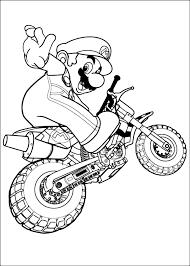 Disegno Di Super Mario Sulla Moto Da Colorare