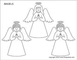 Select print at the top of the page, and the advertising and navigation at the top of the page will be ignored, or. Angels Free Printable Templates Coloring Pages Firstpalette Com