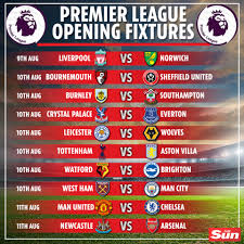 Premier League 2019/20 fixtures announced: Liverpool face Norwich on Friday  night while Man United host Chelsea on Super Sunday