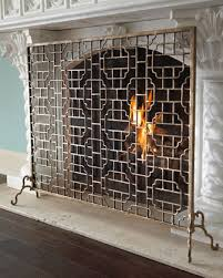 Unique fireplace screens Covers Usually Out Of My Price Range But Still Pretty None The Less For Example Their Gold Fireplace Screens Are So Unique Living In The 513 Livinginthe513 Gold Fireplace Screens