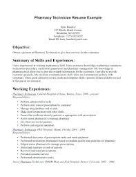 Objective For Pharmacy Resume Sample Pharmacy Technician Resume Breathelight Co