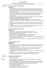 Catering Coordinator Resume Samples Velvet Jobs