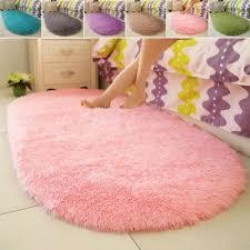 soft fine fiber carpet footcloth mat super non slip effect soft oval hot lovely