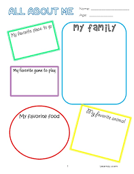All About Me Preschool Worksheet Worksheets for all   Download and ...