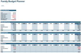 Budget Layout Example Family Budget Planner Free Budget Spreadsheet For Excel