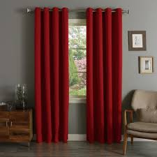 aurora home grommet top thermal insulated 96 inch blackout curtain panel pair 52 x 96 free today com 12329779