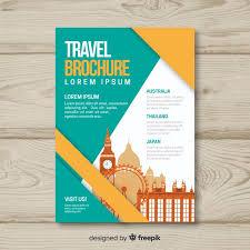 Travel Brochure Cover Design Travel Brochure Template Vector Free Download
