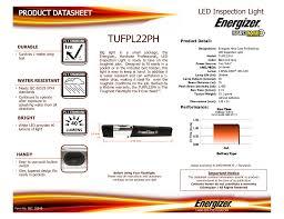 Energizer Hard Case Led Work Light Tufpl22ph Manualzz Com