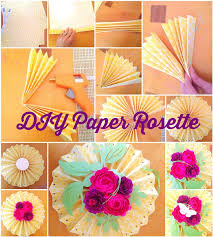 Paper Rosette Flower Decorative Hanging Paper Rosette Fans With Paper Flowers By Mamas