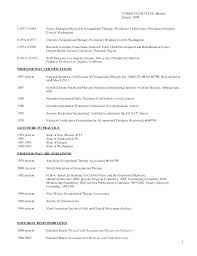 Occupational Therapy Resume Pediatric Occupational Therapist Resume