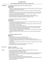 Customer Support Executive Resume Samples Velvet Jobs