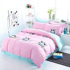 kids duvet covers cotton blue owl girls boys bedding set bright color bed linen kids duvet kids duvet covers