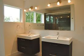m modern small bathroom design ideas with astonishing twin bathrooms vanity combined black wooden drawers and high quality white acrylic rectangular sink bathroom magnificent contemporary bathroom vanity lighting