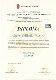 master in geodesy english version diploma level education