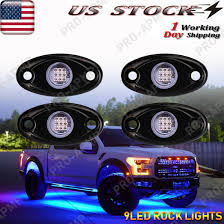 Details About Blue Led Rock Lights W 4pods Light For Jeep Off Road Truck Car Atv Under Body 9w