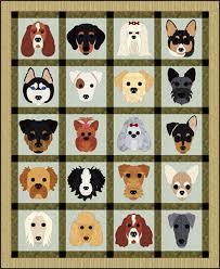 Dog Quilt Patterns Beauteous Dog Days Quilt Pattern FCP48 Advanced Beginner Wall Hanging