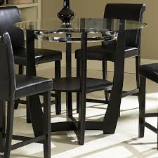 bar table and chairs black