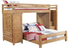 bunk bed with desk. Creekside Taffy Twin/Full Step Bunk Bed W/Chest With Desk