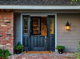 single 36 inch dutch black entry door with 2 sidelights and screen for 6 foot opening plastpro model dr 41 gany grain painted black
