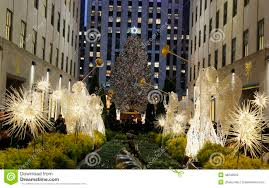 Editorial Stock Photo. Download Angel Christmas Decorations And Christmas  Tree At The Rockefeller Center ...