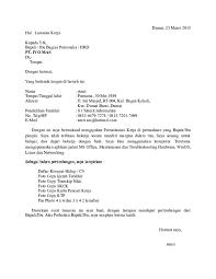 Doc Contoh Surat Lamaran Kerja Amri Am Academia Edu