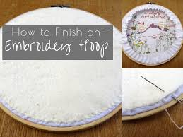 how to finish an embroidery hopp