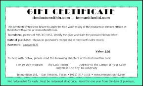 Gift Certificate Wording 31 Free Gift Certificate Templates Template Lab 155402796145