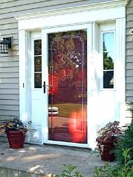 screen door repair garage installation instructions doors attractive patio pella latch