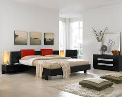 asian modern bedroom decorating ideas with awesome painting background and cool bed design bedroom simple modern bedroom design