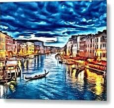 marvellous river city painting river city metal print by art diamond river city painting lawrence ks