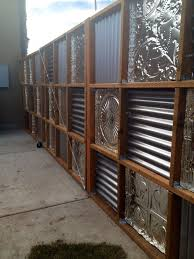 Perfect Sheet Metal Fence Corrugated Back On Inspiration Decorating