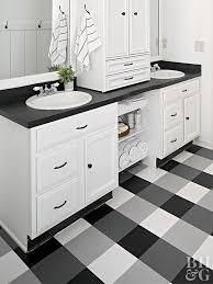 double sink buffalo check vinyl flooring